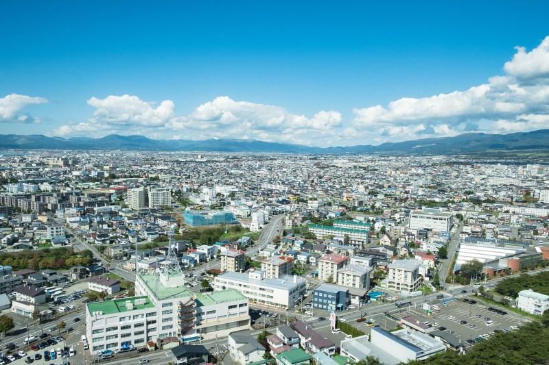 函館のお昼の景色