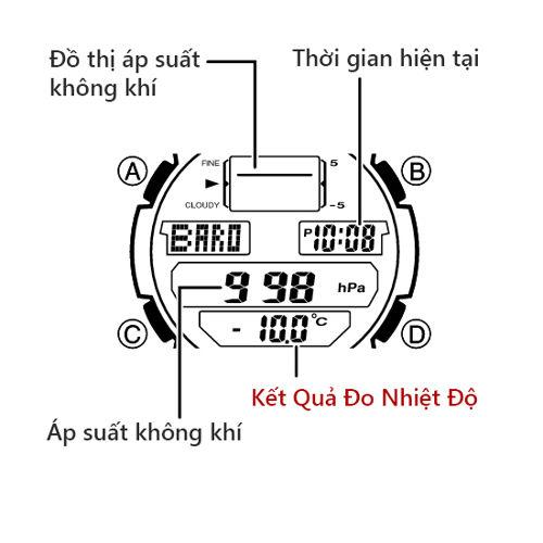 CÁCH DÙNG THERMOMETER ĐỒNG HỒ CASIO OUTGEAR: MÃ SGW-400H
