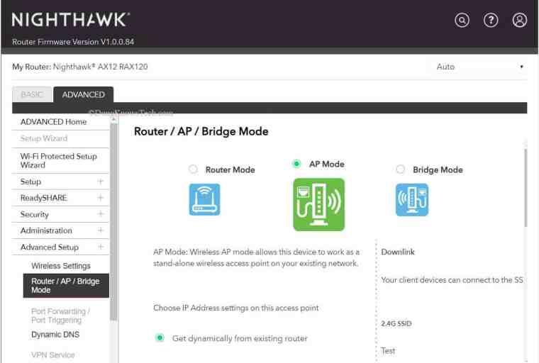 Setting Router To Bridge Mode