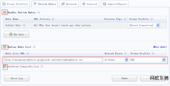 Google瀏覽器Proxy Switchy插件翻墻SSH詳解 | 網蚊東捕 @WP