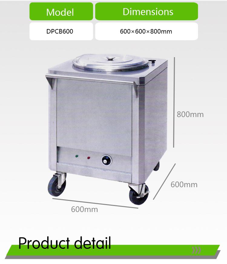 Electric Food Warmer Cart electric Rice Warmer Trolley