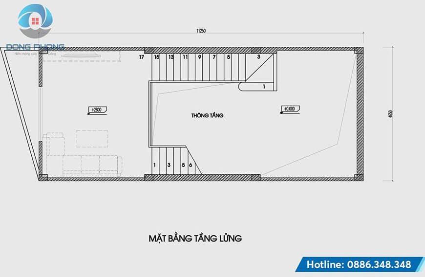 Nhà Phố 4 Tầng 1 Tum hiện đại tầng lửng