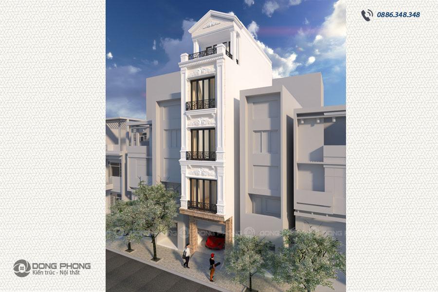 nhà phố tân cổ điển 40m2 4 tầng 1 tum NPCD1301-3