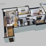 thiết kế nội thất tổng thể căn hộ ntcc1340