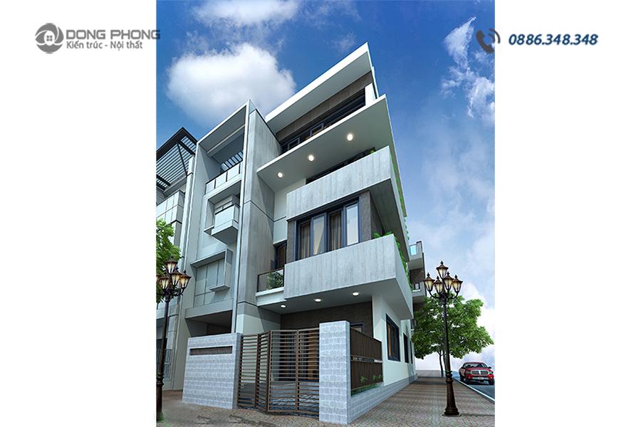 nhà phố 4 tầng hiện đại mẫu KTNP1309 -12