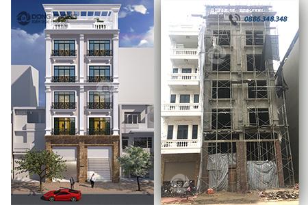 nhà phố đang hoàn thiện KTNP1341C