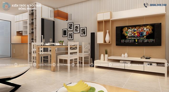 thiết kế nội thất phòng khách ntcc1325-2