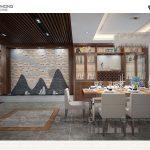 Khu vực phòng ăn rộng rãi thiết kế hiện đại NPHD1300