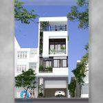 mẫu nhà phố 4 tầng
