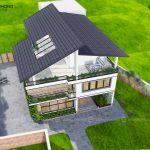 nhà biệt thự hiện đại 3 tầng tại h đông anh BT1308 -2
