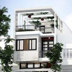 Thiết kế nội thất và kiến trúc nhà lô 3 tầng