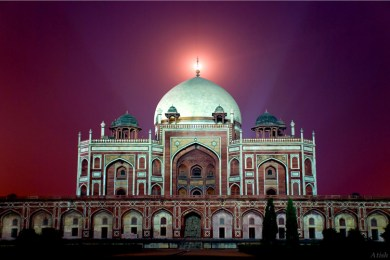 Tomb of King Humayun During Night