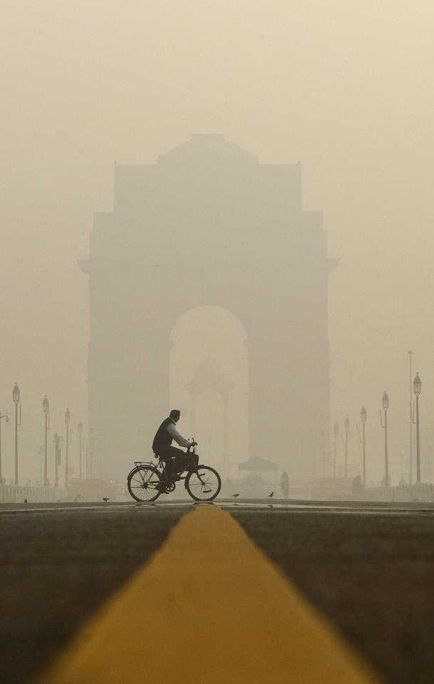 A View of India Gate in Winter Season