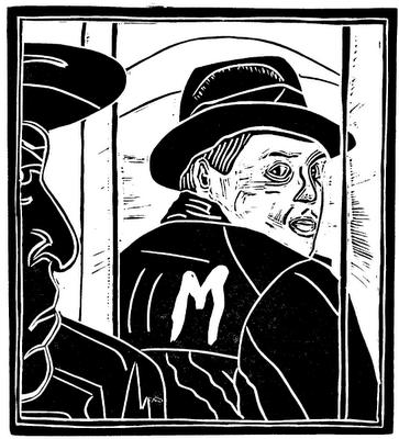Peter Lorre woodcut