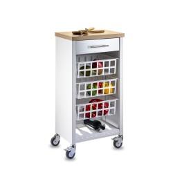 Dal mobile per il piano cottura ai pensili; Acquistare Carrelli Portaoggeti Di Design Per La Cucina