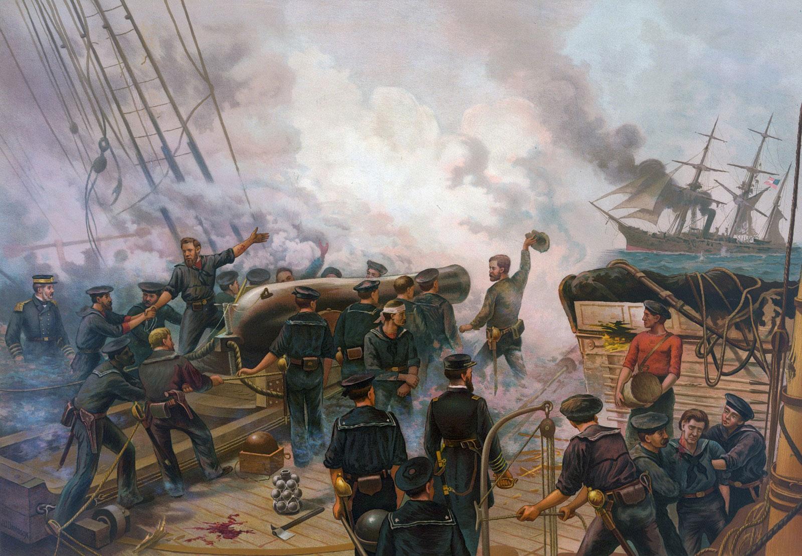 High Seas Duel Css Alabama Vs Uss Kearsarge By Don Hollway