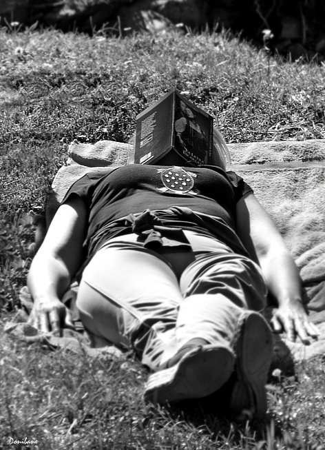 """""""Books are for summer"""" by Donibane"""