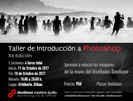 taller de iniciación a photoshop en Bilbao impartido por Donibane Creative Studio