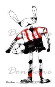 Serie futbolistas animales por Donibane