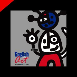 English with Art branding by Donibane