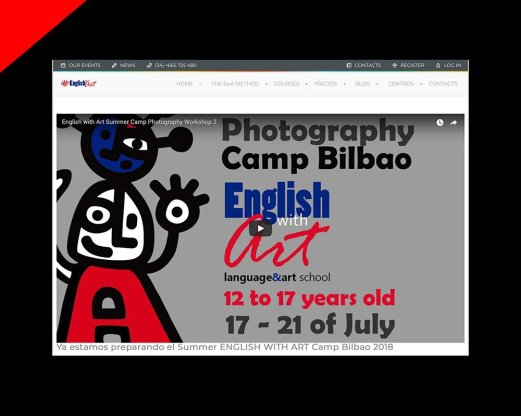English with Art web design by Donibane