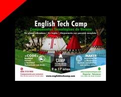 Flyer Camp Tecnologico Verano en ingles por Donibane