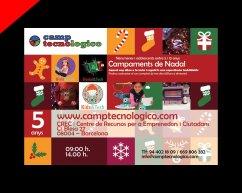 Flyer Camp Tecnologico Navidad en ingles por Donibane