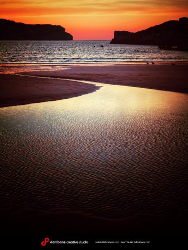 Beach orange by Donibane
