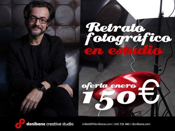 Oferta de Retrato en Estudio de fotografía por 150 € en Bilbao