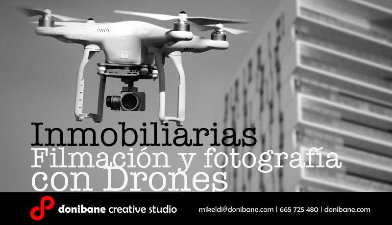 Filmación y fotografías con drones en el País Vasco sector construcción e inmobiliarias