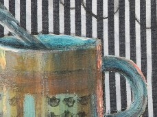 """Coffee"" - DETAIL 2, oil on canvas - 25 x 35 cm, 2007"