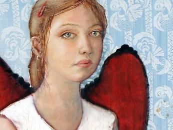 """Donna"" - DETAIL 1, oil on canvas - 186 x 97 cm, 2006"