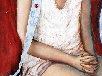 """Donna"" - DETAIL 2, oil on canvas - 186 x 97 cm, 2006"