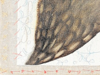 """""""Flying"""" - DETAIL 5, oil on canvas - 72 x 72 cm, 2009"""