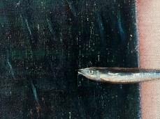 """River"" - DETAIL 3, oil on canvas - 33 x 70 cm, 2003"