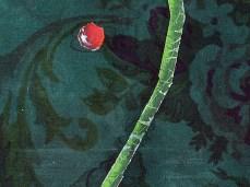 """Scarlet Rain"" - DETAIL 3, oil on canvas - 44.5 x 38 cm, 2008"