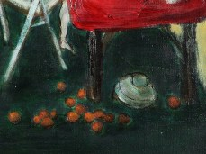 """""""Yellow Room"""" - DETAIL 2, oil on canvas - 50 x 50 cm, 2003"""