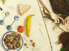 """""""Breakfast on The Grass"""" - DETAIL 1, oil on canvas - 124 x 218 cm, 2009"""