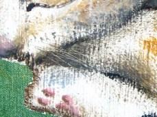 """Cat"" - DETAIL 1, oil on canvas - 50 x 70 cm, 2009"