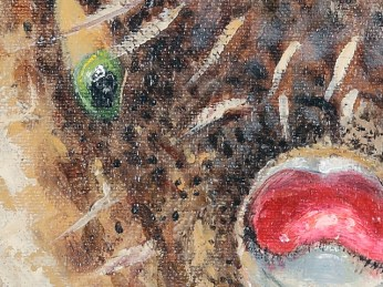 """""""Fish"""" - DETAIL 1, oil on canvas - 81 x 81 cm, 2009"""