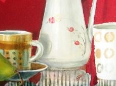 """Honey"" - DETAIL 3, oil on canvas - 75 x 75 x 75 cm, 2010"