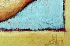 """Wing"" - DETAIL 3, oil on canvas - 20 x 20 cm, 2001"