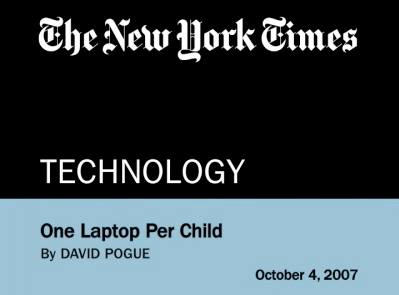 NYTimes on the XO laptop