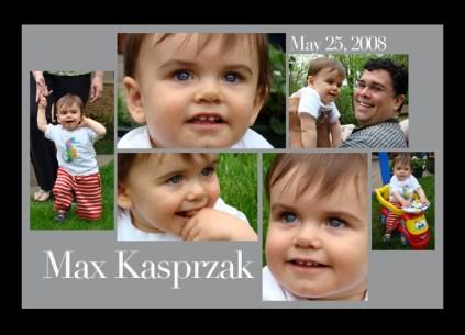 Maxwell's 1st Birthday