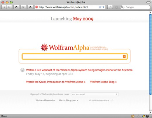 Wolfram|Alpha search engine
