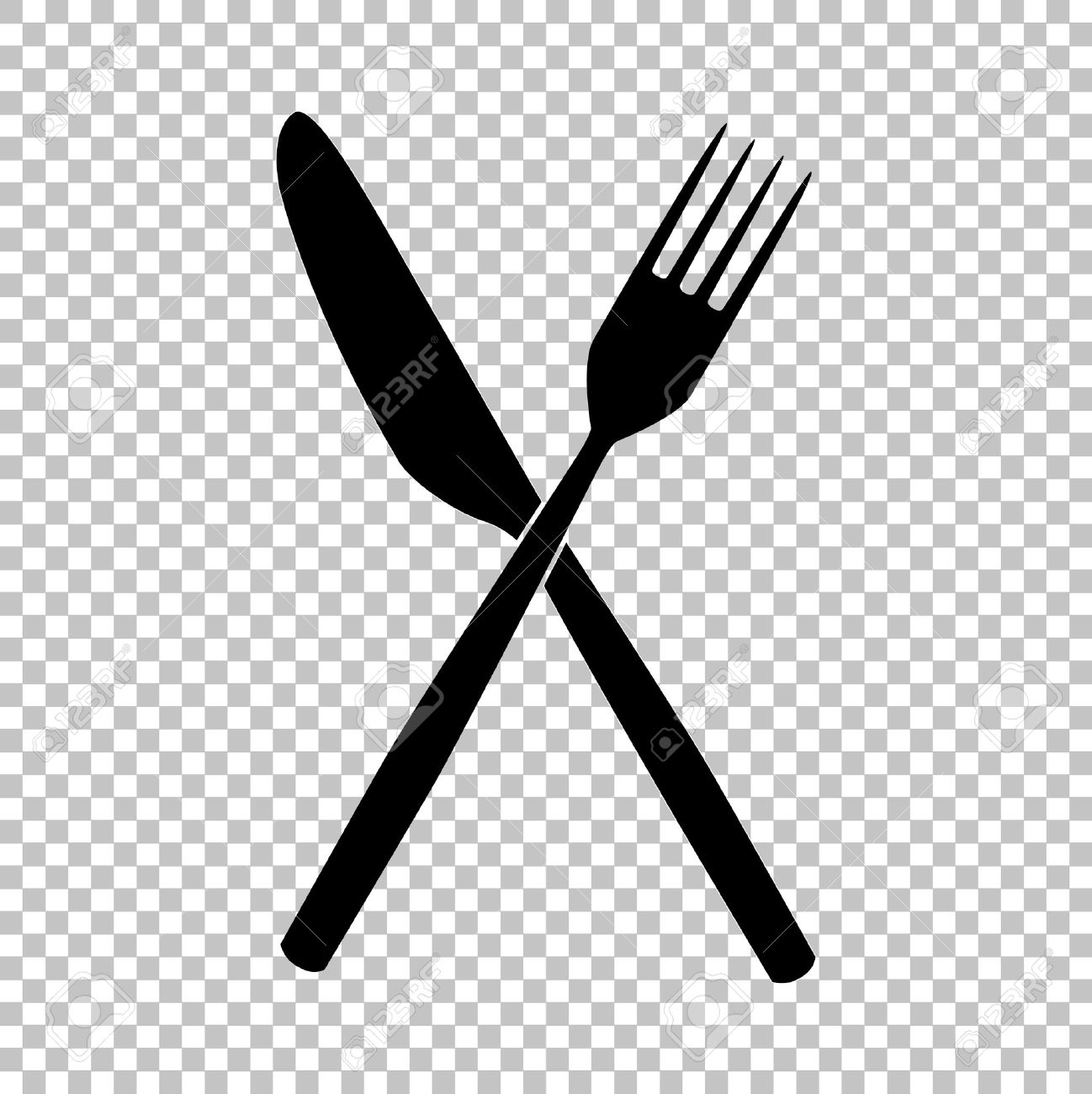 hight resolution of 52179466 fork and knife sign flat style icon