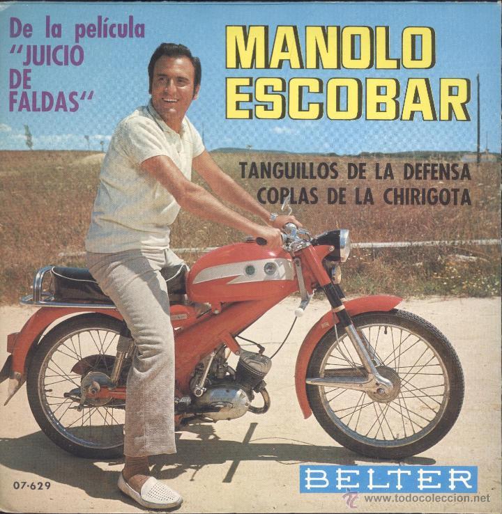 Manolo Escobar en moto