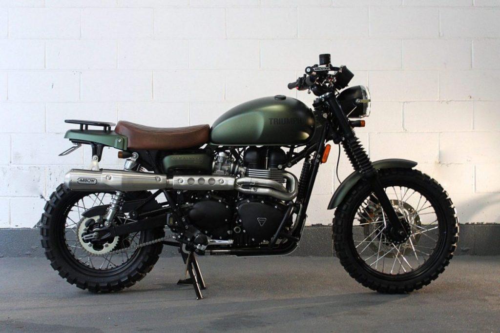 Moto tipo Scrambler