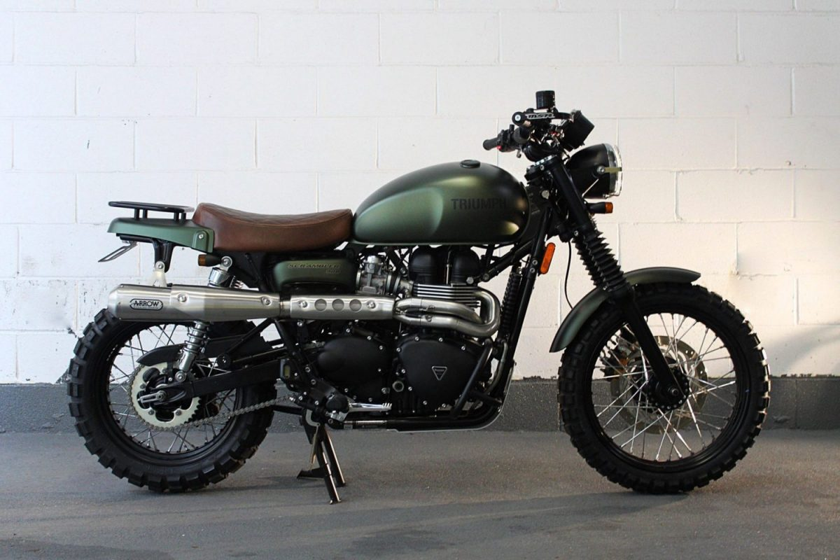 Estilo scrambler moto