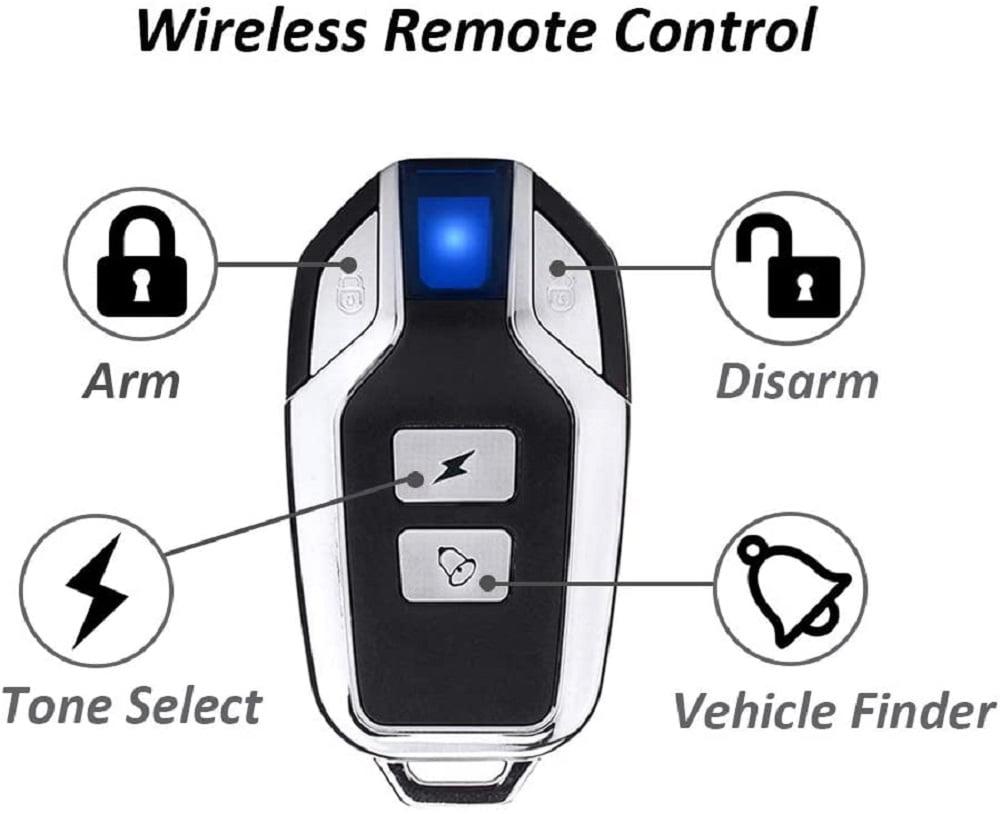 Alarma sin cables para moto